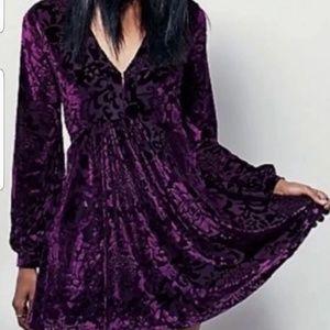 FREE PEOPLE velvety mini dress NWT
